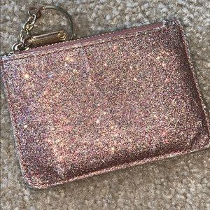 Sparkly Pink and Gold Keychain Wallet